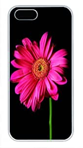 Protective PC Case Skin for iphone 5 White Fashion PC Case Back Cover Shell for iphone 5S with Flower Pattern