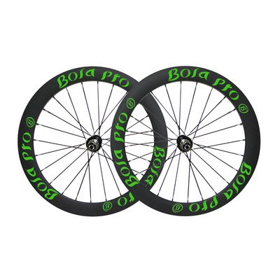 Bola Pro carbon bike wheelset,+/-0.2mm offset,Two Year Warranty,700C 55mm high 25mm wide tubular carbon rim with road disc brake hub and Sapim Cx ray 24/24 spoke for grave -  Bola Bicycle Co.,Ltd, XT5
