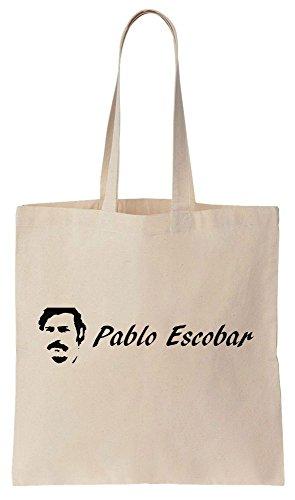 Pablo Escobar Logo Sacchetto di cotone tela di canapa