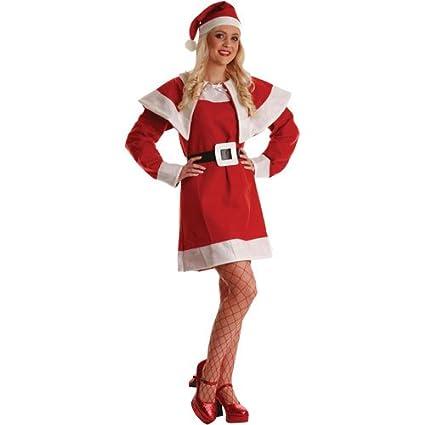 Wicked Ladies Budget Mrs Santa Claus Christmas Fancy Dress Costume  Amazon. it  Abbigliamento db1cd48306e