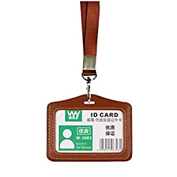 Unisex ID Card Holder Credit Card Case Library Card Holder, Brown