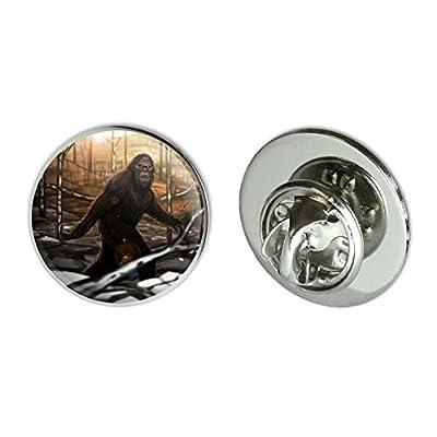 "Bigfoot Sasquatch Walking in the Woods Metal 0.75"" Lapel Hat Pin Tie Tack Pinback for cheap"