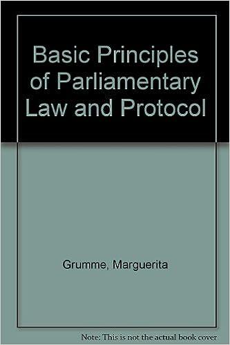 parliamentary law