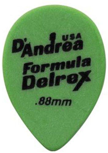 (D'Andrea TD358, 0.88MH Formula Delrex Guitar Picks, 12-Piece, Green, 0.88mm, Medium Heavy)
