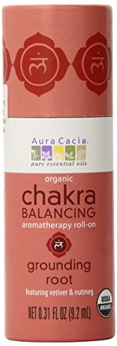 Aura Cacia Organic Chakra Balancing Roll-On, Grounding Root, 0.31 fluid ounce