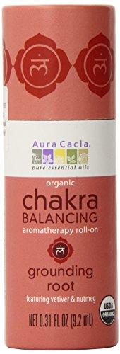 - Aura Cacia Organic Chakra Balancing Roll-On, Grounding Root, 0.31 fluid ounce