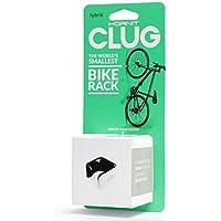 CLUG Bike Clip Sistema de almacenamiento de racks de bicicletas al aire libre para interiores, blanco /negro, 33-42 mm