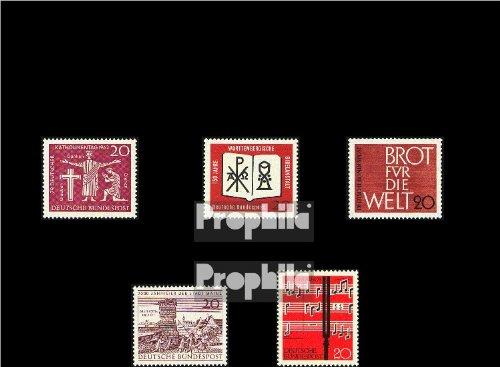 - BRD (BR.Deutschland) 375,380,381,382,389 (kompl.Ausg.) 1962 Mainz, Lied, Hannover, Bibel, Brot (Briefmarken for collectors)