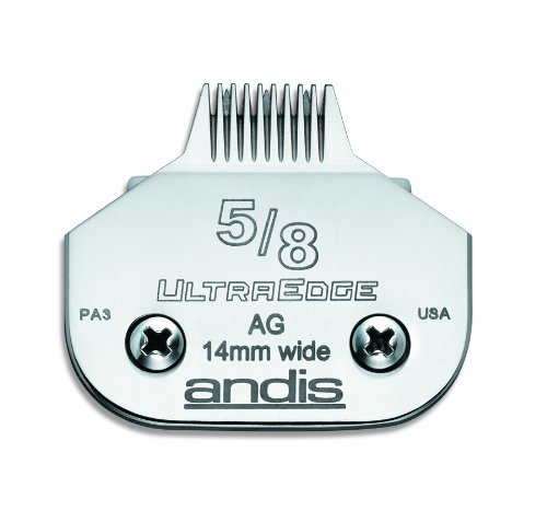 Andis Carbon-Infused Steel UltraEdge Narrow Cut Dog Clipper Blade, Size-5/8, 1/32-Inch Cut Length (Cut Clipper)