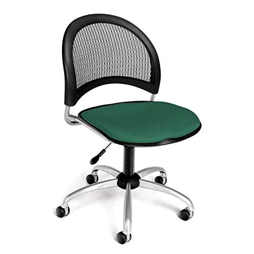 (OFM Moon Series Armless Fabric Swivel Chair, Shamrock Green)