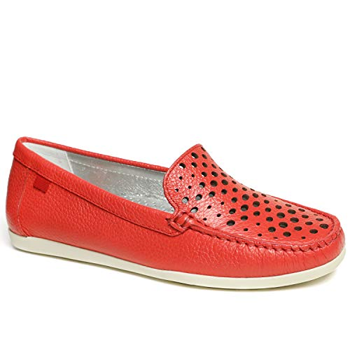 MARC JOSEPH NEW YORK Women's Leather Made in Brazil Venetian Perforated Loafer