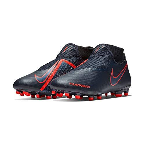 Nike Phantom VSN Academy DF FG/MG (Mens 9.5/Womens 11) Obsidian/Black/Bright Crimson/University Blue