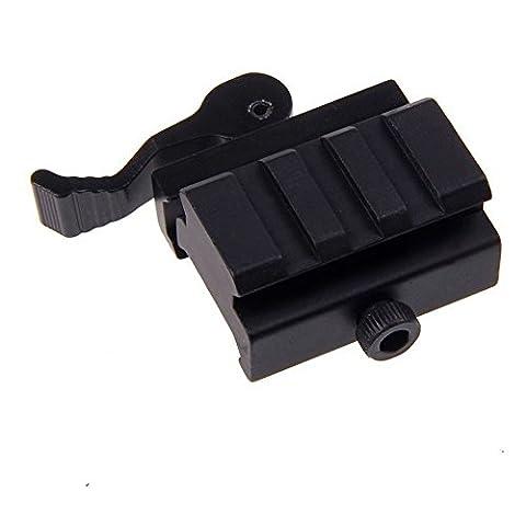 3-Solt QD Riser Mount with Adjustable Lock Lever, 1/2