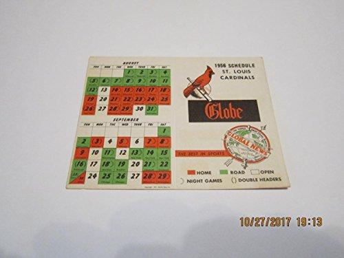 (1956 St. Louis Cardinals Pocket Schedule NM)