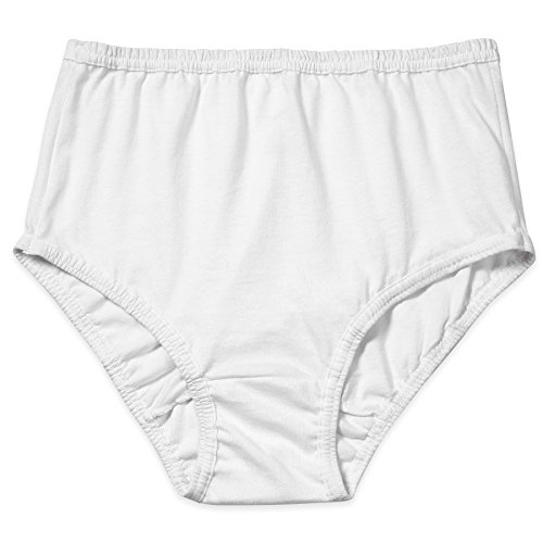 Valair Women's Full Cut Soft Cotton Brief Panty - Pack Of 3 - Various Colors (White, 7) (Women Cotton Waist Panties)