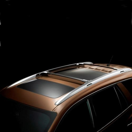 GM # 12499978 Roof Rack Cross Rail Package - Black Rails with Chrome End Cap (Chrome End Front Package)
