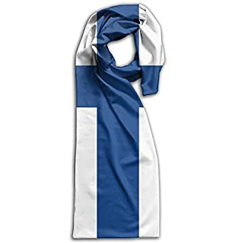 HFIUH5 Flag Of Finland Printing Scarf Warm Soft Fashion