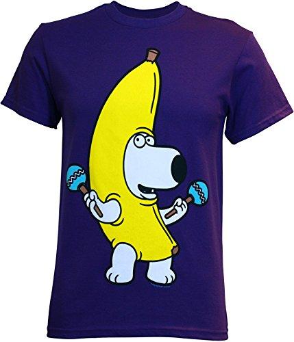 Family Guy Brian Banana Costume Men's T-Shirt, XX-Large (Family Guy Costumes)