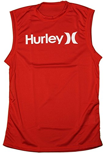 Hurley Men's One and Only Mesh Tank, Valiant Red, Small hurley rash guard 7