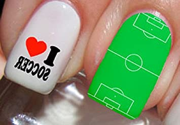 Amazon Soccer Nail Art Stickers Decals Set Of 46 Beauty