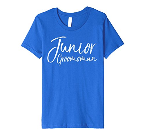 Kids Junior Groomsman Shirt 12 Royal Blue