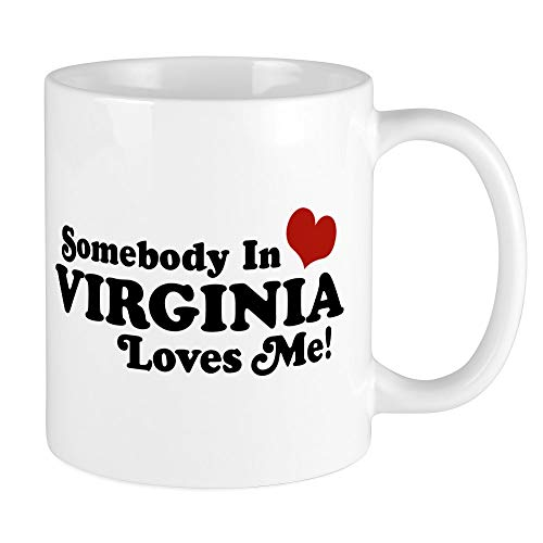 CafePress Somebody In Virginia Loves Me Mug Unique Coffee Mug, Coffee Cup - Shirt Classic Virginia