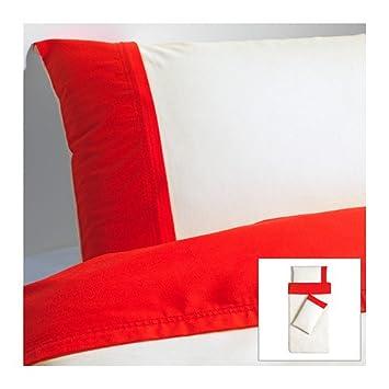 Ikea Farglav Housse De Couette Et 2 Taies Doreiller Rouge