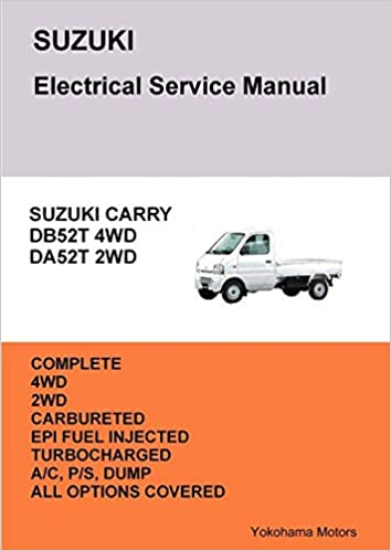 suzuki carry truck electrical service manual db52t da52t     on mercury  zephyr wiring diagram