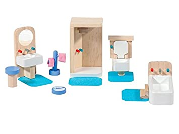 772b3edaa0e4b1 PLAYTIVE® JUNIOR Puppenhaus- Möbelset Bad  Amazon.de  Spielzeug