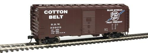 40' AAR 1948 Boxcar - Ready to Run -- Cotton Belt(TM) SSW #33929 (Boxcar Red, Blue Streak Fast Freight Logo)