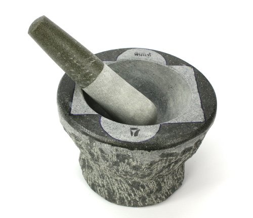 Thai Stone Mortar and Pestle, Large, 7 inch size