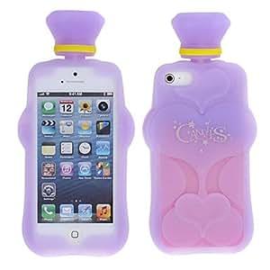 comprar Púrpura y rosa caja de diseño de sílice caso gel suave especial para iphone 5