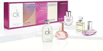 Calvin Klein Deluxe 5 piezas en miniatura viajes colección Set de regalo para mujeres: CK One
