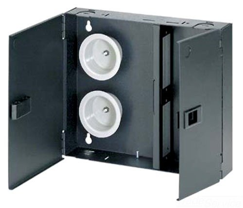 Panduit FWME2 2-Door 2-Adapter Panel Wall-Mount Enclosure, Black