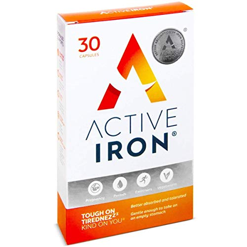 Active Iron | Iron Tablets | Ferrous Iron Sulphate Supplement | Clinically...