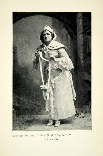 Musical Costume Design (1900 Print Della May Fox Portrait Opera Singer Comedian Broadway Musical Costume - Original Halftone Print)