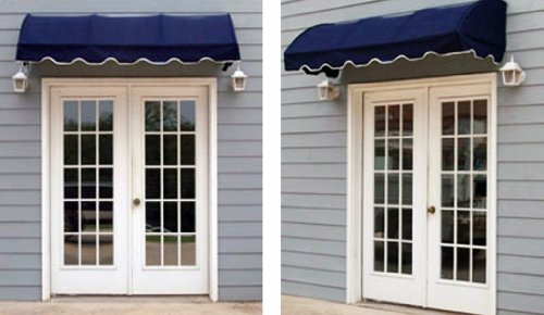 Quarter Round Window Awning or Door Canopy 4' Wide in Sunbrella Awning Fabric - Black