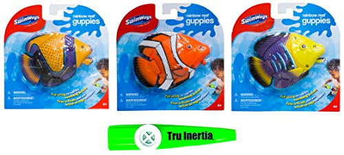 (Tru Inertia Swimming Pool Toys Rainbow Reef Guppies Pack of 3 Pool Toy Kazoo (Colors Will Vary))