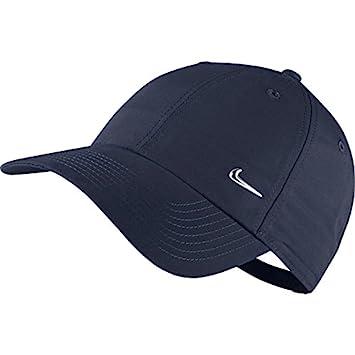 Nike Men Metal Swoosh Logo Cap - Obsidian Metallic Silver f69e85600bd