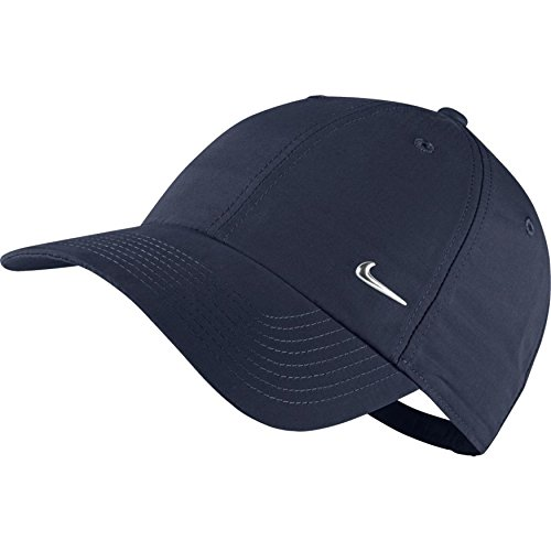 Authentic Nike Navy Blue Cap Hat Unisex Metal Swoosh One Size Adjustable Golf Baseball Hats ()