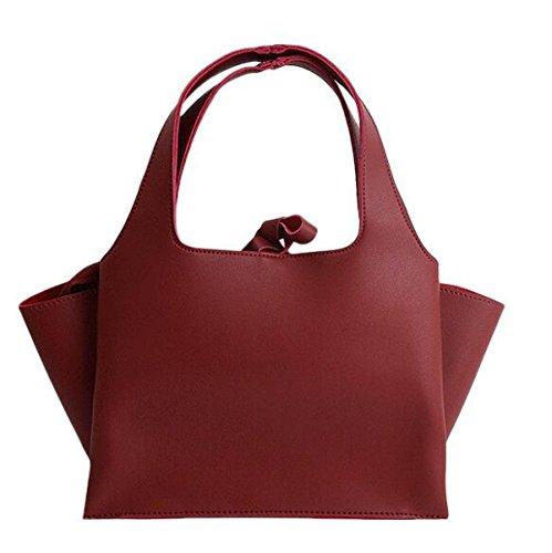 Herbst Und Winter Neue Koreanische Flügel Paket Troddel Schläger Tasche Trend Weiblichen Tasche Schulter Messenger Bag Red T2IpzcKHt