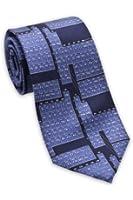Josh Bach Periodic Table / Science Men's Silk Necktie in Blue, Made in USA