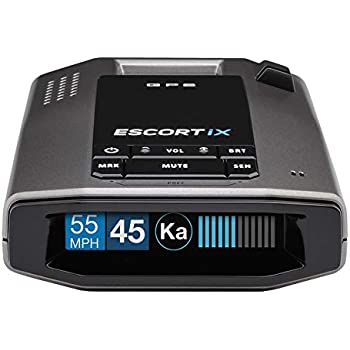 ESCORT IX Laser Radar Detector - Auto Learn Protection, Extreme Long Range, Bluetooth, Voice Alerts, OLED Display, Escort Live, Black