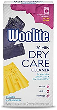 Woolite DCSFF04N Dry Cleaner's Secret-Fragrance Free-(6 Uses)-At Home Dry Cleaner for Fine Fabrics, Hand W