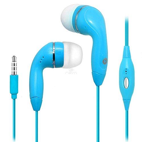 BargainPort Blue Color 3.5mm Audio Earphone Headphones Heads