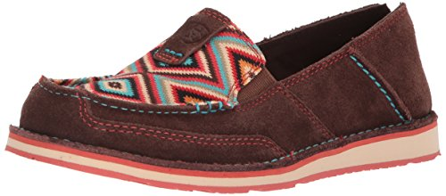 Ariat Women's Cruiser Slip-on Shoe, Coffee Bean Suede/Pastel Aztec Print, 6.5 B US]()