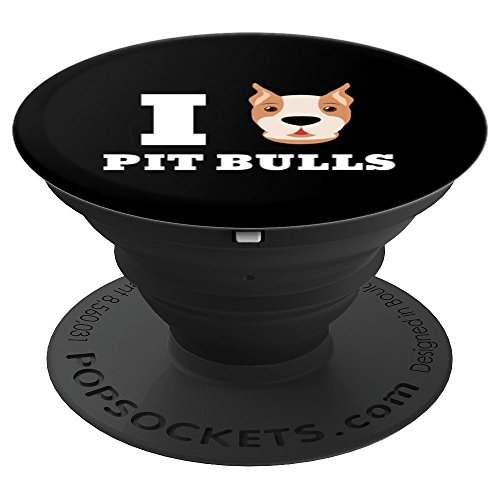 I Love Pit Bulls Pitbull Terrier Dog Owner Mom Dad Gift - PopSockets Grip and Stand for Phones and Tablets
