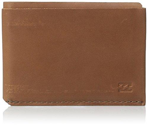 (Billabong Men's Harlem Bi-Fold Wallet, Chocolate One Size)