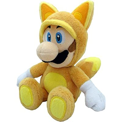 Little Buddy Official Super Mario Plush Kitsune Fox Luigi, 9-Inch: Toys & Games