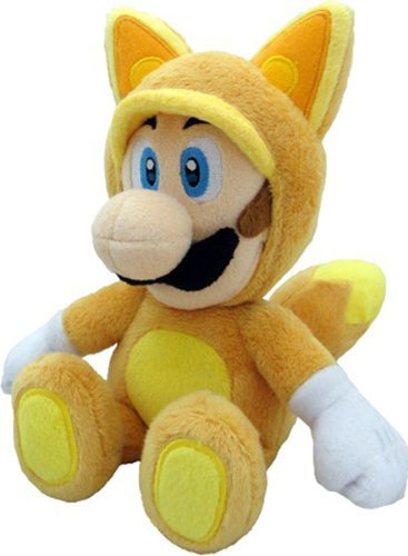Little Buddy Official Super Mario Plush Kitsune Fox Luigi, 9-Inch -